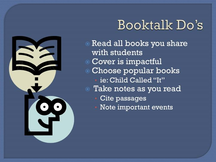Booktalk Do's