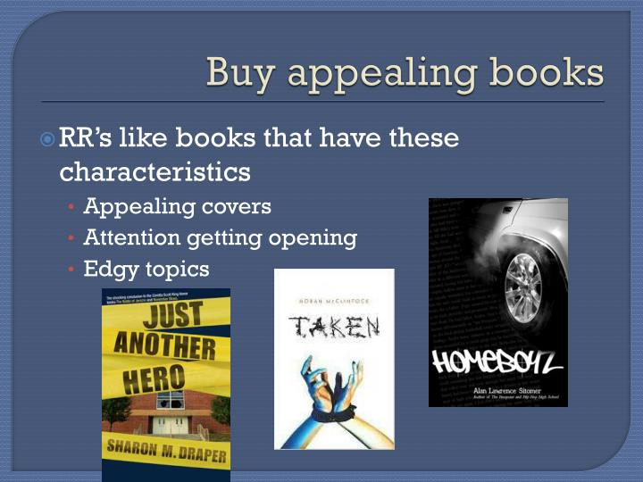 Buy appealing books