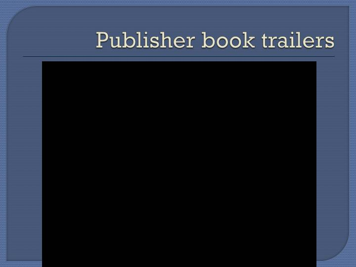 Publisher book trailers