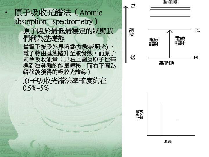 原子吸收光譜法(