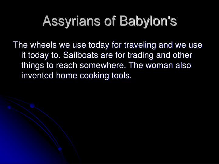 Assyrians of Babylon's