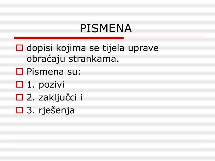 PISMENA