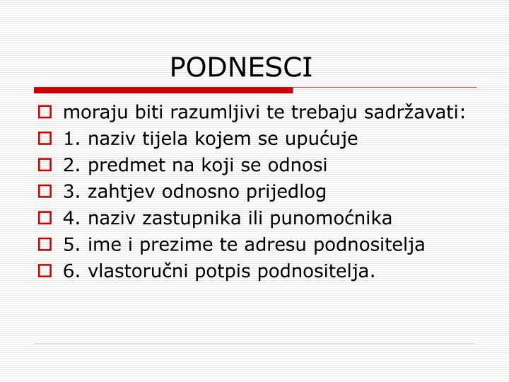 PODNESCI