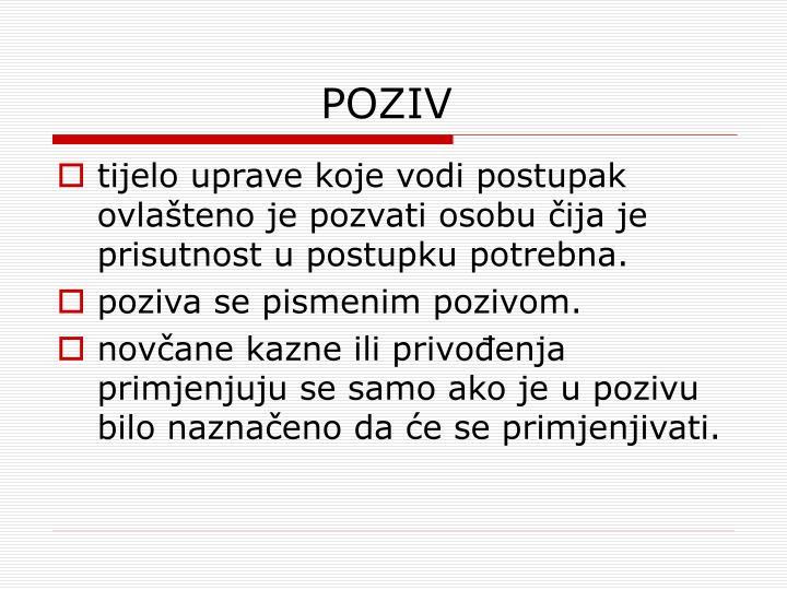 POZIV