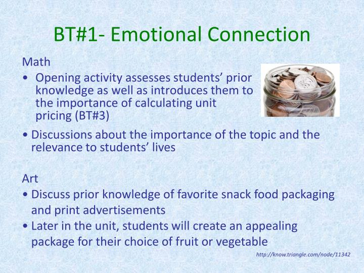 BT#1- Emotional Connection