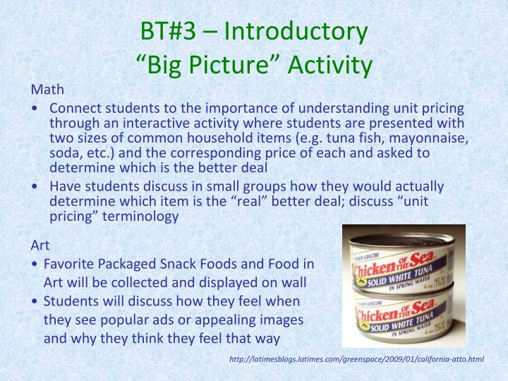 BT#3 – Introductory