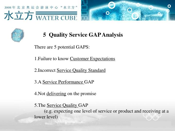5  Quality Service GAP Analysis