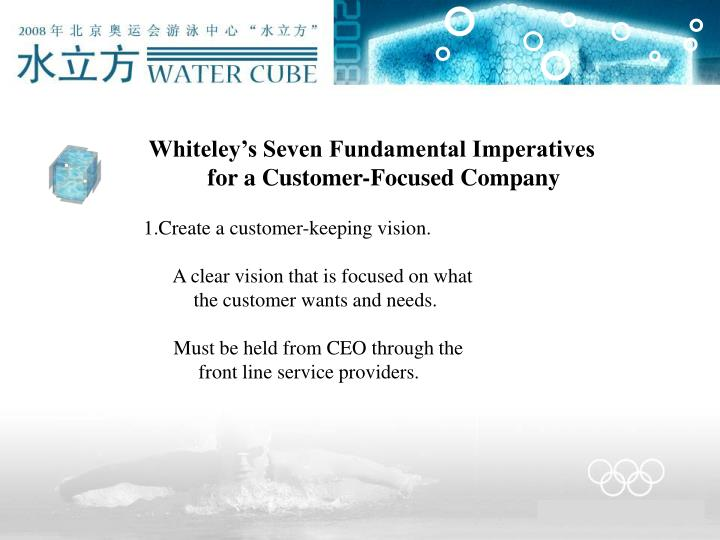 Whiteley's Seven Fundamental Imperatives