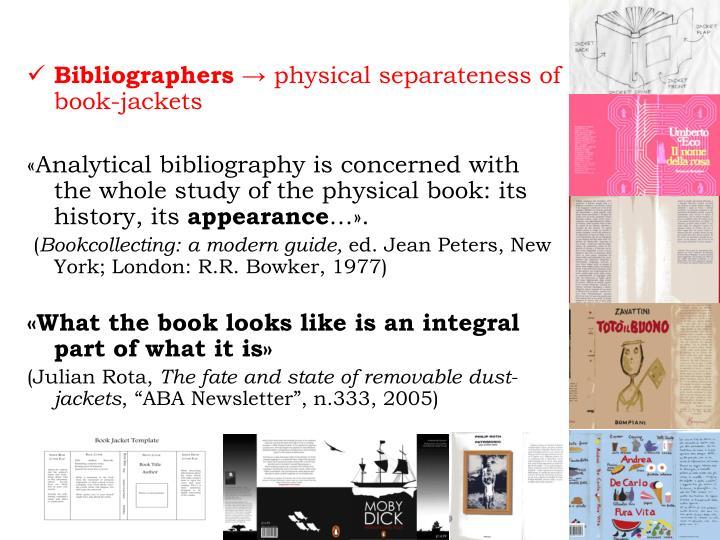 Bibliographers →