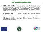 stan prac nad prow 2014 2020