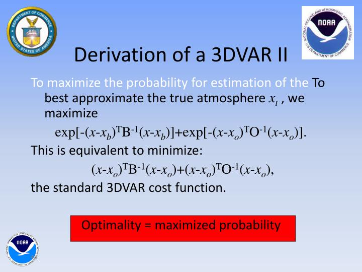 Derivation of a 3DVAR II
