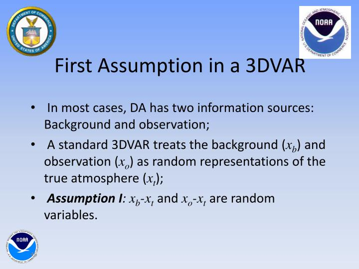 First Assumption in a 3DVAR