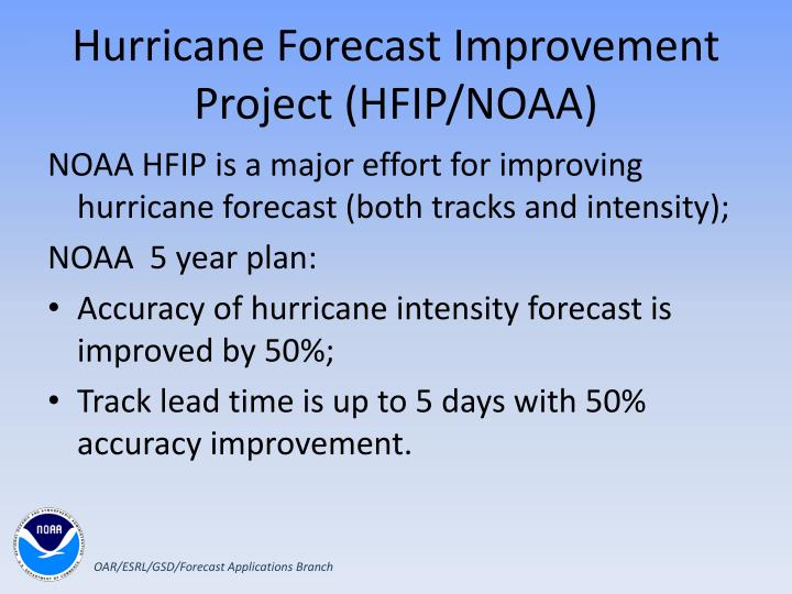 Hurricane Forecast Improvement Project (HFIP/NOAA)