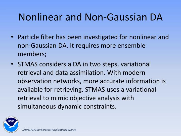 Nonlinear and Non-Gaussian DA