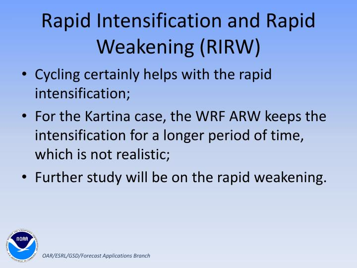 Rapid Intensification and Rapid Weakening (RIRW)