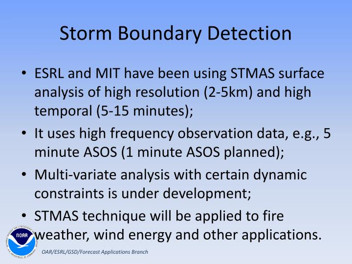 Storm Boundary Detection