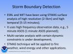 storm boundary detection