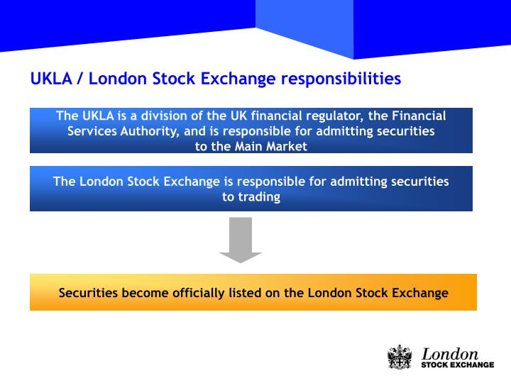 Securities become officially listed on the London Stock Exchange