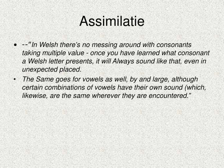 Assimilatie