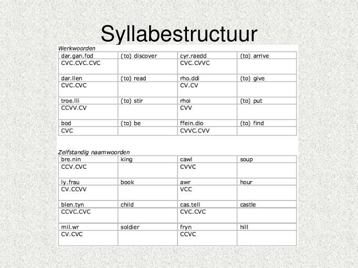 Syllabestructuur
