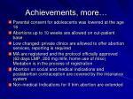 achievements more