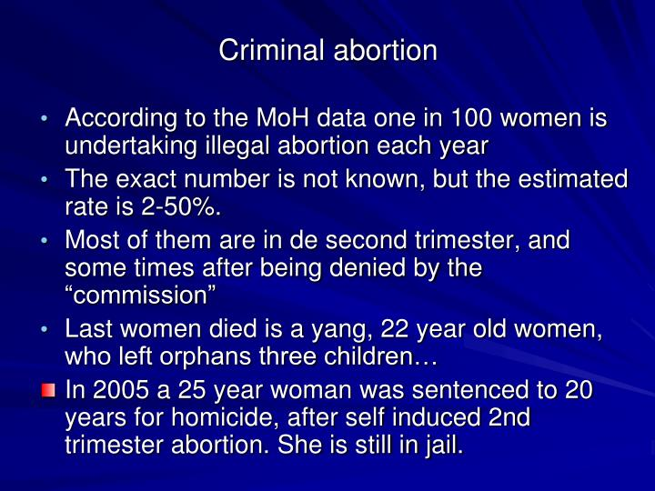 Criminal abortion
