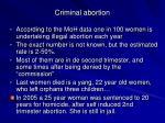 criminal abortion