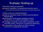 iii phase scaling up
