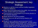 strategic assessment key findings