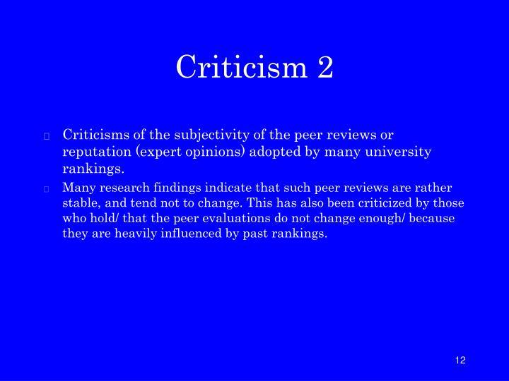 Criticism 2