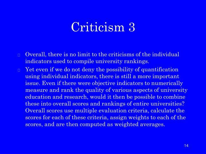 Criticism 3