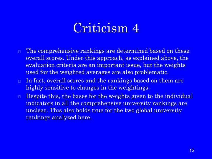 Criticism 4