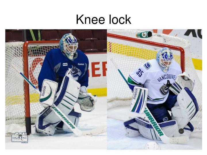 Knee lock