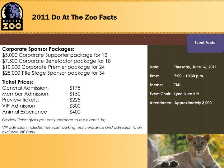 2011 Do At The Zoo Facts
