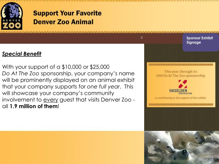 Support Your Favorite Denver Zoo Animal