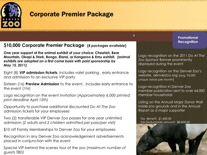Corporate Premier Package