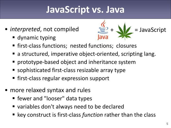 JavaScript vs. Java