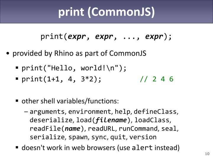 print (CommonJS)