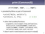 print commonjs
