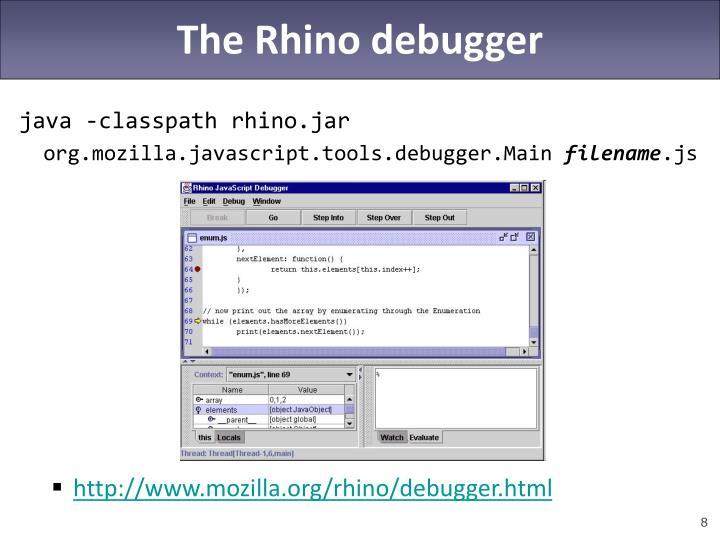 The Rhino debugger