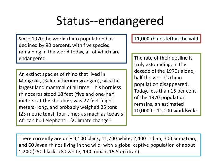 Status--endangered