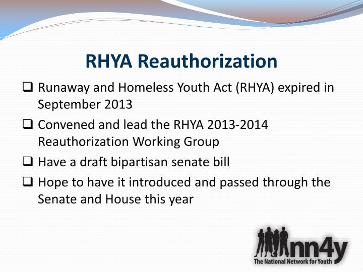 RHYA Reauthorization