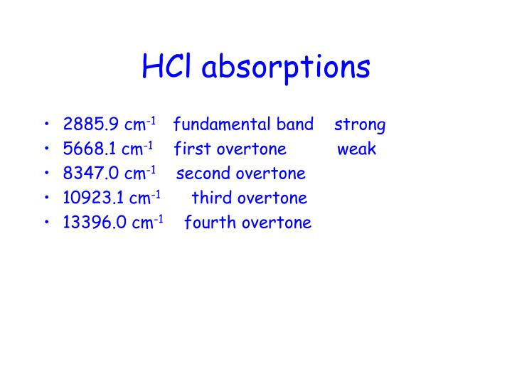Hcl absorptions