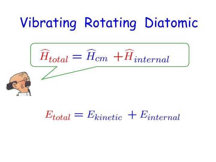 Vibrating  Rotating  Diatomic