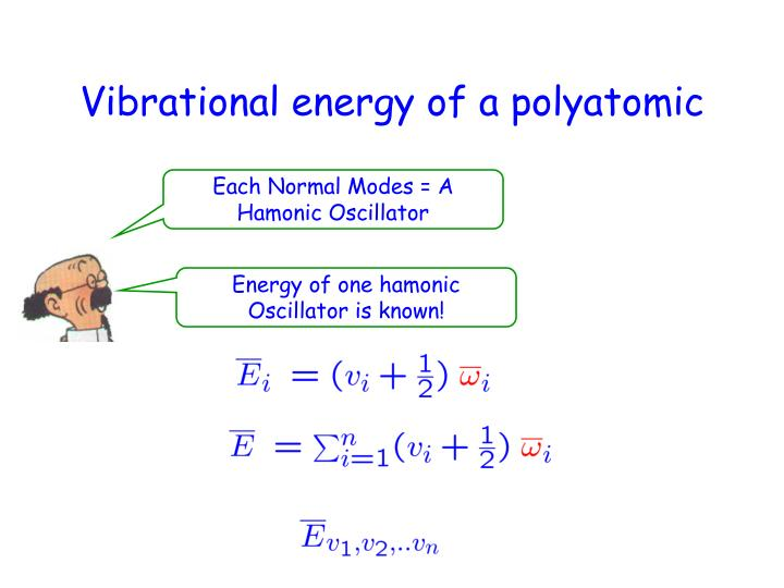 Vibrational energy of a polyatomic