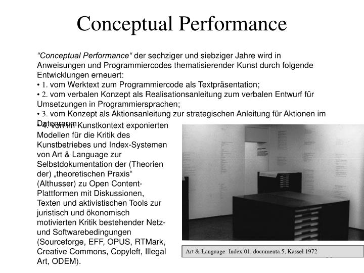 Conceptual Performance