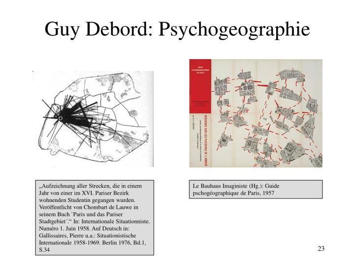 Guy Debord: Psychogeographie
