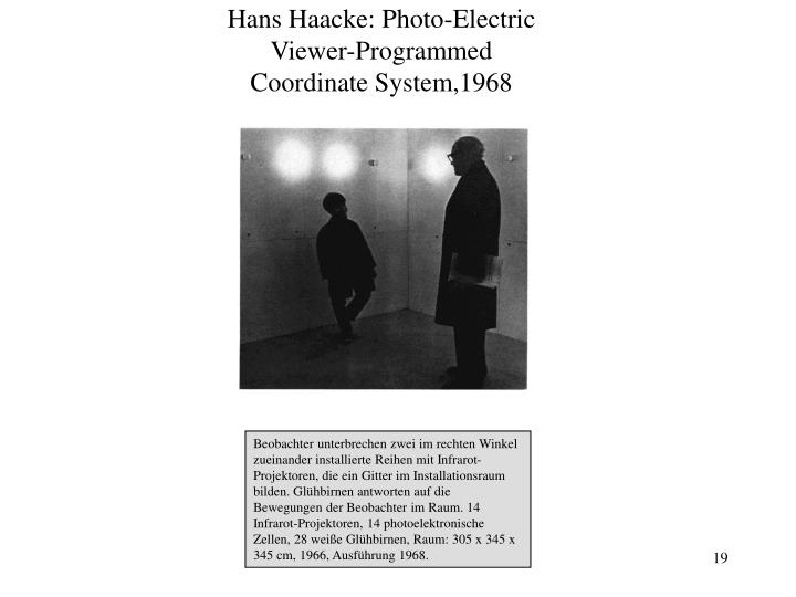 Hans Haacke: Photo-Electric Viewer-Programmed Coordinate System,1968