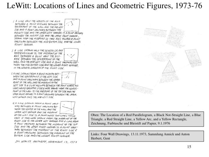 LeWitt: Locations of Lines and Geometric Figures, 1973-76