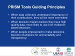 prism tools guiding principles1